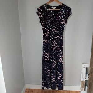 Boden Maxi Dress Jersey Material Floral Print